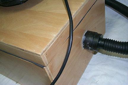 Vacuum hose side.