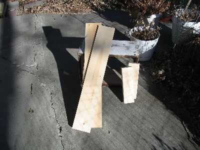 "The bottom consists of 4 pieces. Two 1""x6""x33-7/8"" planks and two 2""x4""x11-3/4"" cleats."