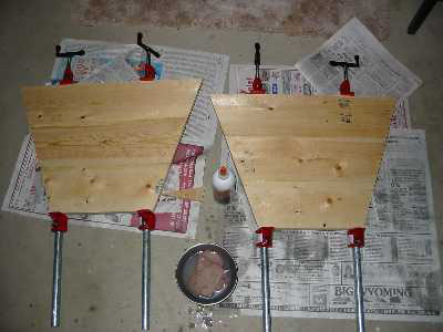 The end pieces are glued together and then trimmed to final size.