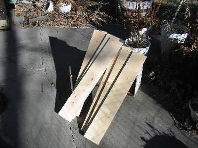 "The sides consist of six pieces. All six are 1""x6""x35-3/8""."