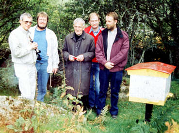 The Buckfast Africa Team. Brother Adam stayed home this time, 1989, when Kenya was visited. The others from left: Bert Thrybom, Erik Bjorklund and Erik Osterlund from Sweden and Michael van der Zee from Holland.
