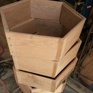 Inside view of the hex hive.