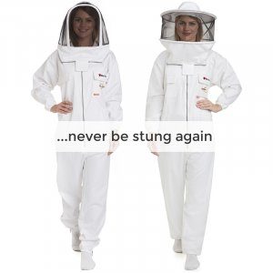 Max Protect - Cotton Beekeeping Suit with 2 Veils Round & Fencing – Safe and Protected