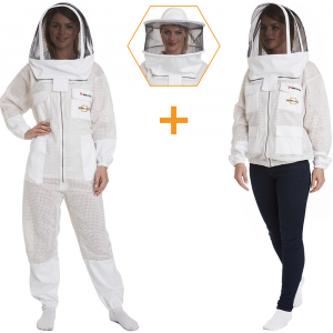 Zephyros - 3 Layer Ventilated Beekeeping Suit & Jacket with 2 Veils Round & Fencing - Stay Protected & Coo