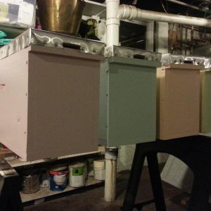 New four frame nuc boxes. Maybe I will have some bees for these in the spring.